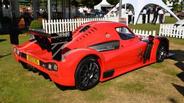 Radical RXC sports car red rear spoiler