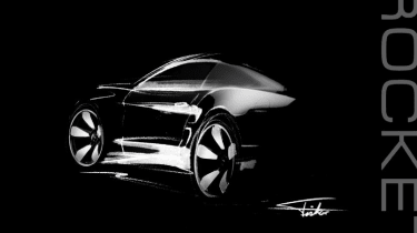 Galpin Fisker Rocket sketch