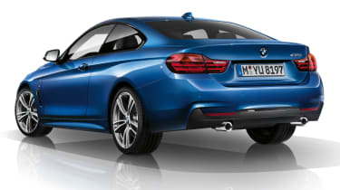 New BMW 4-series coupe M Sport rear