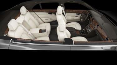 Bentley Mulsanne interior cutaway