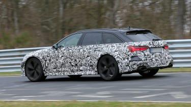 Audi RS6 Avant spied 2019 (body-on) - rear quarter