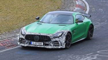 Mercedes-AMG GT R spy 2018 - front quarter