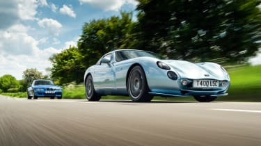 TVR Tuscan and BMW M Coupe front