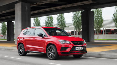 Ateca Cupra - red front quarter