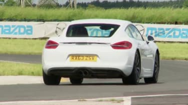 Porsche Cayman white rear