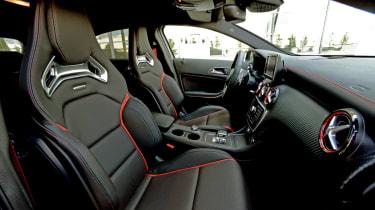 2013 Mercedes A45 AMG sports seats