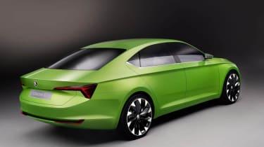 Skoda VisionC concept car green