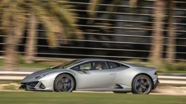 Lamborghini Huracan EVO silver - side