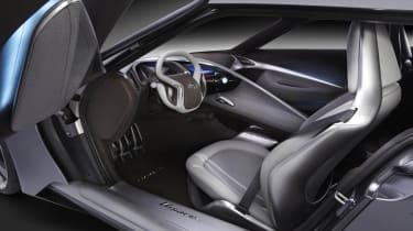 Hyundai HND-9 coupe interior steering wheel