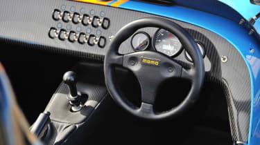 Caterham 620R interior dashboard steering wheel