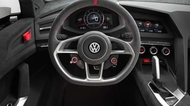 496bhp VW Golf Design Vision GTI steering wheel dials