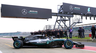 Mercedes F1 2018 car - side