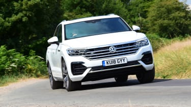 Volkswagen Touareg UK drive - front cornering