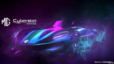 MG Cyberster Roadster - sketch