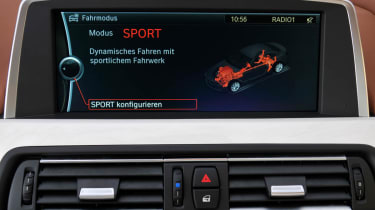 BMW 6-series Gran Coupe drive select Sport mode