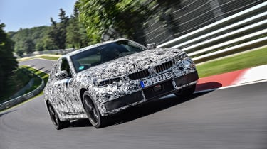 2019 BMW 3-series teaser - front quarter