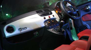 Abarth 500 interior dashboard