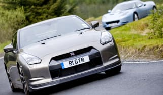 Lotus Evora and Nissan GT-R