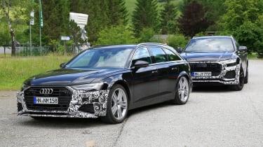 Audi RS6 Avant spy - front static