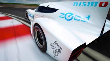 Nissan ZEOD RC electric Le Mans racer corner rear