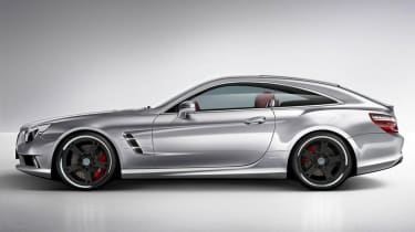 Mercedes SL Shooting Brake side profile