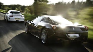 Ferrari 458 Italia v Porsche GT3 RS