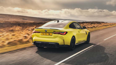 BMW M4 Competition 2021 review – rear tracking