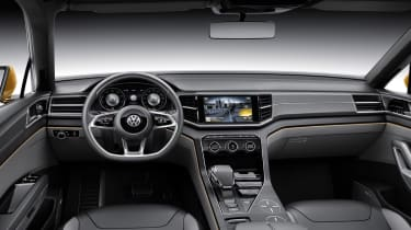 VW CrossBlue interior black leather