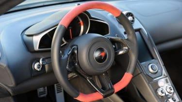 Hennessey McLaren 12C HPE700 interior steering wheel