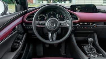 New Mazda 3 Skyactiv-X 2019 review dash