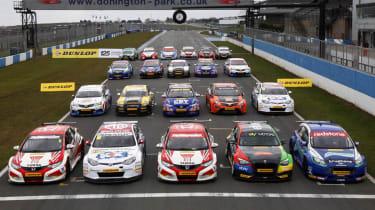 British Touring Cars 2013 season grid of cars
