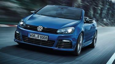 VW Golf R Cabriolet blue