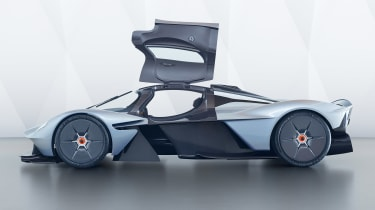 Aston Martin Valkyrie - side profile, doors open