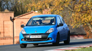 Renaultsport Clio 200 Cup racing blue trackday