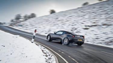 Porsche 911 Carrera group test Lotus Evora S drift