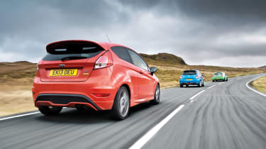 Ford Fiesta ST with the Suzuki Swift Sport and Clio 200