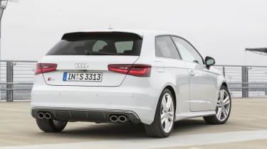 2013 Audi S3 white rear