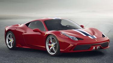 Ferrari 458 Speciale red front