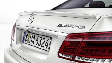 2013 Mercedes E63 AMG S Model rear spoiler boot badge