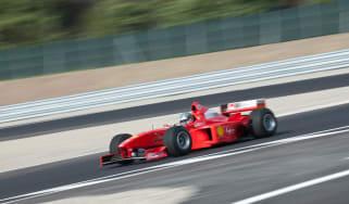 Michael Schumacher Ferrari Formula 1 car drive video