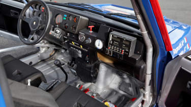 Renault 5 Turbo Maxi rally car interior