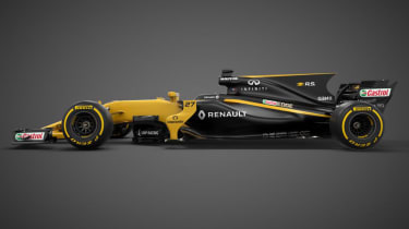 Renault F1 car side