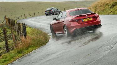 Alfa Giulia vs M3 CP - alfa sliding