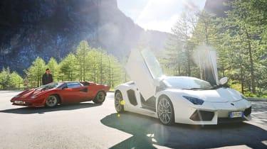 evo Magazine: July 2013 Lamborghini Aventador Countach road trip