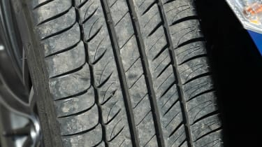 Subaru BRZ group test tyre tread