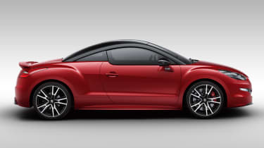 Peugeot RCZ R red side profile