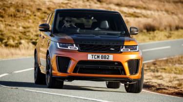Range Rover Sport SVR front cornering