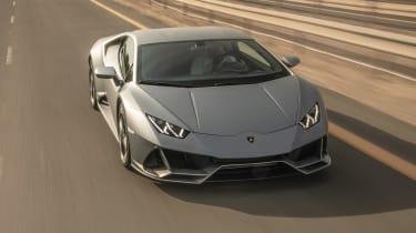 Lamborghini Huracan EVO silver - front