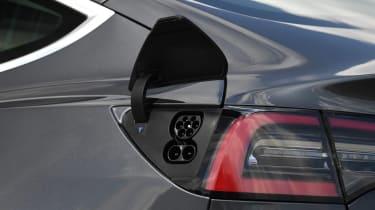 Tesla Model 3 charging port