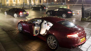 Aston Martin Rapide v Porsche Panamera Turbo v Maserati Quattroporte GT S v Bentley Flying Spur Speed